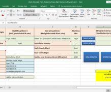 Excel Otomatik Word Form Doldurma Toplu Mail Gönderme Programı