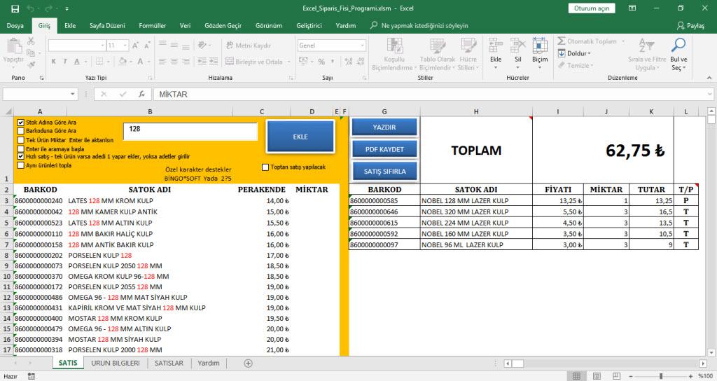Stok Takip Excel Programı Ücretsiz İndirin