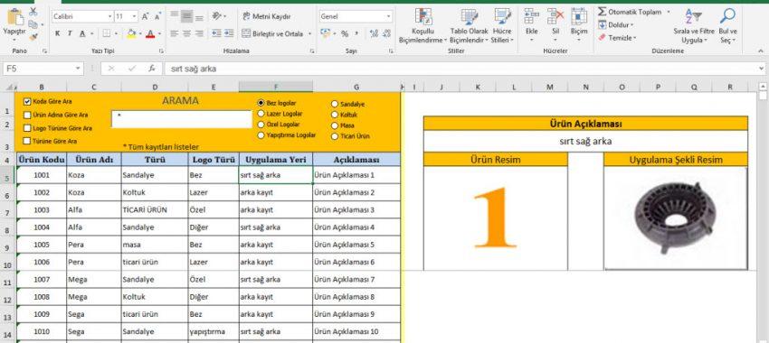 Excel Resimli Ürün Katalog Programı