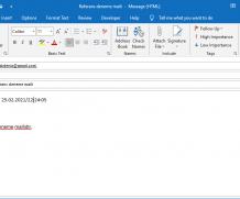Outlook gönderilen maillere Referans numarası eklemek
